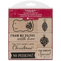 Hampton Art™ Hot Fudge Mounted Stamp Set, No Peeking