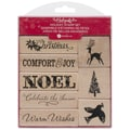 Hampton Art™ Hot Fudge Mounted Stamp Set, Noel