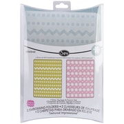Sizzix® Textured Impressions A2 5 3/4 x 4 1/2 Embossing Folder, Dots/Zig Zag & Dots/Flower