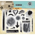 Hero Arts® In Cardmaking & Journaling 8in. x 6in. Cling Rubber Stamp, Brush Strokes