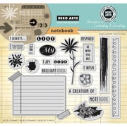 Hero Arts® In Cardmaking & Journaling 8 x 6 Cling Rubber Stamp, My Notebook