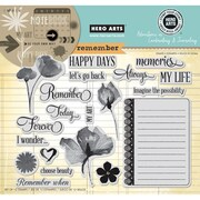 Hero Arts® In Cardmaking & Journaling 8 x 6 Cling Rubber Stamp, Remember