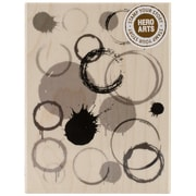 """Hero Arts® 4 1/4"""" x 3"""" Wood Mounted Rubber Stamp, Paint Print"""