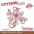CottageCutz® Elites 3 1/2in. x 3 1/2in. American Steel Die, Elegant Poinsettia Spray