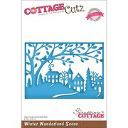 "CottageCutz® Elites 3 3/4"" x 5"" Thin Metal Die, Winter Wonderland Scene"