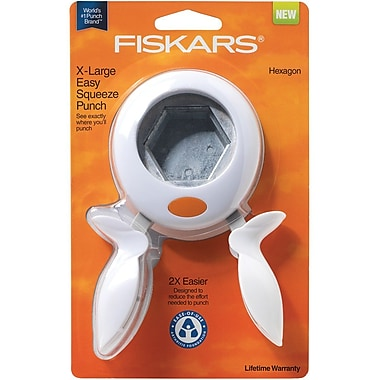Fiskars® Squeeze Punch, X-Large Hexagon, 2