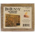 Bo Bunny Kraft Wood Alphabet Rubber Stamp, Upper Case