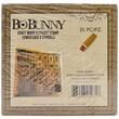 Bo Bunny Kraft Wood Alphabet Rubber Stamp, Lower Case