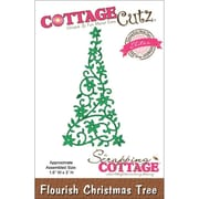 "CottageCutz® Elites 3"" x 1.6"" Thin Metal Die, Flourish Christmas Tree"