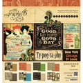 Graphic 45 Typography Collection Paper Pad, 8in. x 8in., 24 Sheets