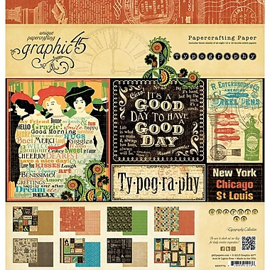 Graphic 45 Typography Collection Paper Pad, 12