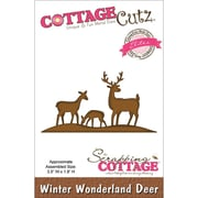 "CottageCutz® Elites 1.8"" x 3.5"" Thin Metal Die, Winter Wonderland Deer"