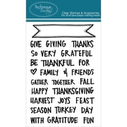 "Technique Tuesday® 4"" x 6"" Clear Stamp, Giving Thanks Banners"