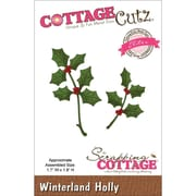 "CottageCutz® Elites 1.8"" x 1.7"" Thin Metal Die, Winterland Holly"