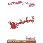 "CottageCutz® Elites 2.6"" x 5"" Thin Metal Die, Santa and Reindeer Flying"