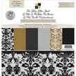 Diecuts With A View® Glitzy Glitter Neutral Paper Stack, 12in. x 12in., 48 Sheets