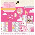 Diecuts With A View® Baby Girl 3 Paper Stack, 12in. x 12in., 48 Sheets