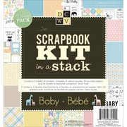 "Diecuts With A View® Baby (Boy & Girl) Scrapbook Kit In A Stack, 8"" x 8"""