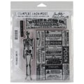 Stampers Anonymous Tim Holtz 7in. x 8 1/2in. Cling Rubber Stamp Set, Poisonous
