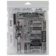 "Stampers Anonymous Tim Holtz 7"" x 8 1/2"" Cling Rubber Stamp Set, Poisonous"