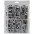 Stampers Anonymous Tim Holtz 7in. x 8 1/2in. Unmounted Cling Rubber Stamp Set, Seasonal Catalog #1