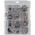 Stampers Anonymous Tim Holtz 7in. x 8 1/2in. Large Cling Rubber Stamp Set, Mini Blueprints #5