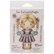 "La-La Land Crafts 4"" x 3"" Mounted Cling Rubber Stamp, Snowflake Garland Marci"
