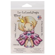 "La-La Land Crafts 4"" x 3"" Mounted Cling Rubber Stamp, Sitting Princess Marci"