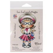 "La-La Land Crafts 4"" x 3"" Mounted Cling Rubber Stamp, Retro Marci"