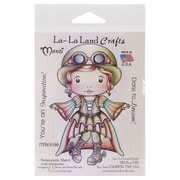 "La-La Land Crafts 4"" x 3"" Mounted Cling Rubber Stamp, Steampunk Marci"