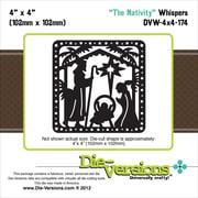 """Die-Versions® Whispers 4"""" x 4"""" Die, The Nativity"""