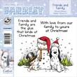 "Barkley EZMount 4 3/4"" x 4 3/4"" Christmas Cling Stamp Set, Friends & Family"