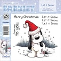 Barkley EZMount 4 3/4in. x 4 3/4in. Christmas Cling Stamp Set, Let It Snow