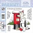 "Barkley EZMount 4 3/4"" x 4 3/4"" Christmas Cling Stamp Set, 1st Class Christmas"