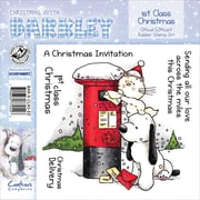 "Barkley EZMount 4 3/4"" x 4 3/4"" Christmas Cling Stamp Set, 1st Class Christmas"