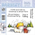 Barkley EZMount 4 3/4in. x 4 3/4in. Christmas Cling Stamp Set, Purr-Fect Christmas