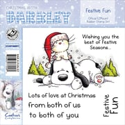 "Barkley EZMount 4 3/4"" x 4 3/4"" Christmas Cling Stamp Set, Festive Fun"