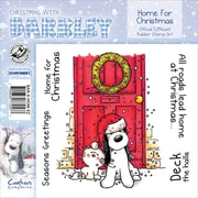 "Barkley EZMount 4 3/4"" x 4 3/4"" Christmas Cling Stamp Set, Home For Christmas"