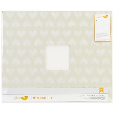 American Crafts™ Amy Tangerine Cloth Patterned D-Ring Album, 12in. x 12in., Hearts