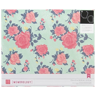 American Crafts™ Patterned D-Ring Album, 12in. x 12in., Flea Market-Flowers