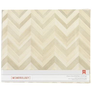 American Crafts™ Patterned D-Ring Album, 12in. x 12in., Close Knit-Wood Color Chevron