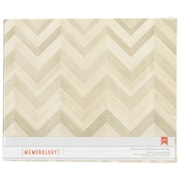 "American Crafts™ Patterned D-Ring Album, 12"" x 12"", Close Knit-Wood Color Chevron"