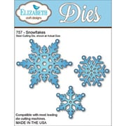 "Elizabeth Craft Designs 6 1/2"" x 4 1/2"" Metal Die, Snowflakes"
