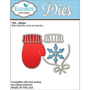 """Elizabeth Craft Designs 2.6"""" x 3"""" Steel Cutting Die, Mittens"""