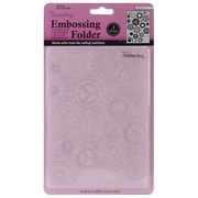 "Ecstasy Crafts® Too 5"" x 7"" Embossing Folder, Gears And Cogs"