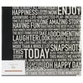 American Crafts™ Project Life Glossy D-Ring Album, 12in. x 12in., Cinnamon Words