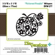 """Die-Versions® Whispers 3.562"""" x 3.062"""" Die, Patterned Pumpkin"""