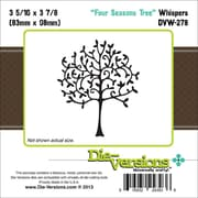 """Die-Versions® Whispers 3.312"""" x 3.875"""" Die, Four Seasons Tree"""