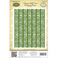 Justrite® Papercraft 4 1/2in. x 5 3/4in. Background Cling Stamp, Christmas Holly Stripes