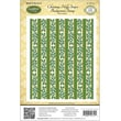 """Justrite® Papercraft 4 1/2"""" x 5 3/4"""" Background Cling Stamp, Christmas Holly Stripes"""